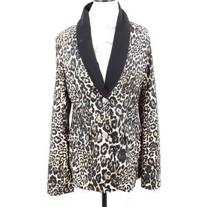 Made in Italy Leopard Print Polyester Blazer 12